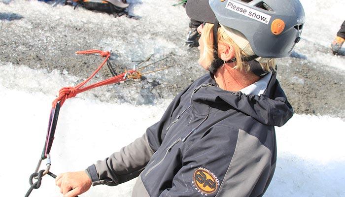Ryan teaching glacier guides.
