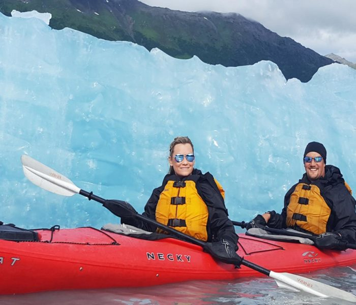 Iceberg Kayaking in Alaska at Spencer Glacier